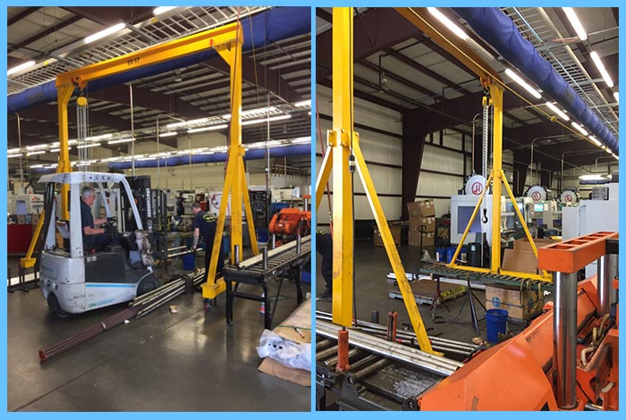 warehouse portable gantry crane
